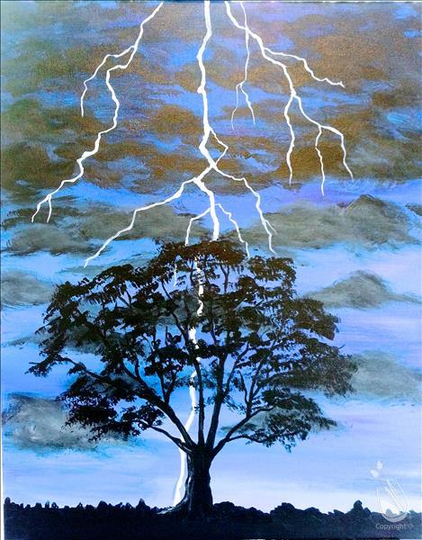 How to Paint Summer Thunderstorm