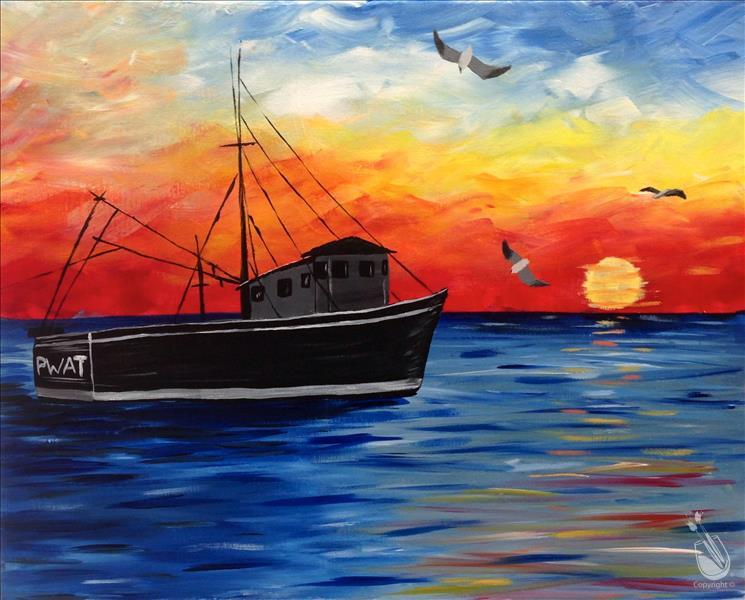 Sunset Trawler