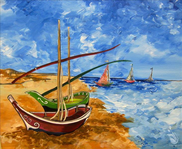 Van Gogh's Boats - MANIC MONDAY $10 off