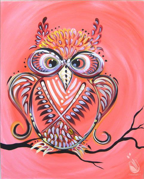 NEW! Peach of an Owl
