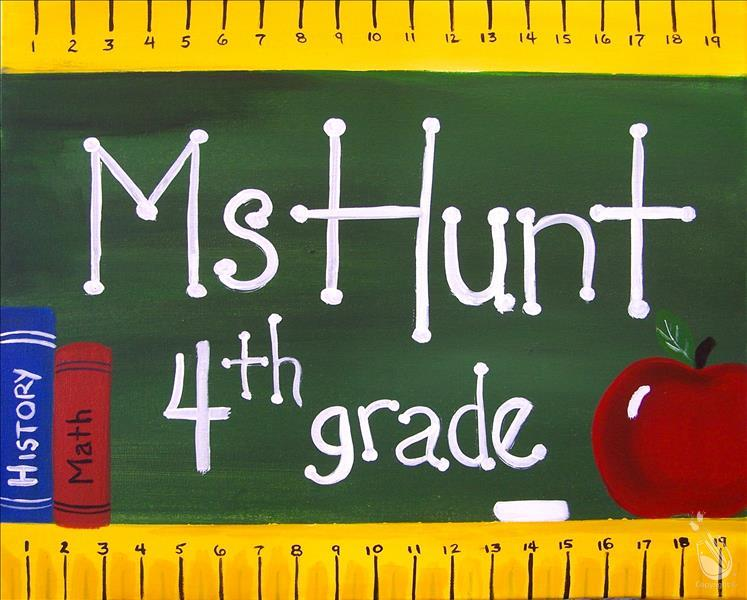 Custom Teacher's Chalkboard