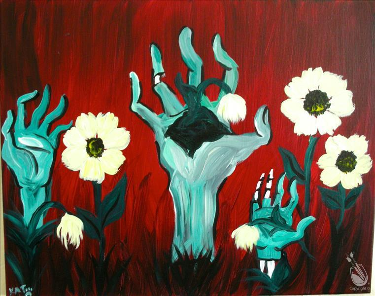 Open to the public pushing up daisies 10 21 2016 for Painting with a twist greenville tx