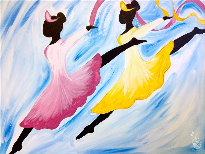 Art of dance tuesday december 13 2016 painting with for Painting with a twist cedar hill tx