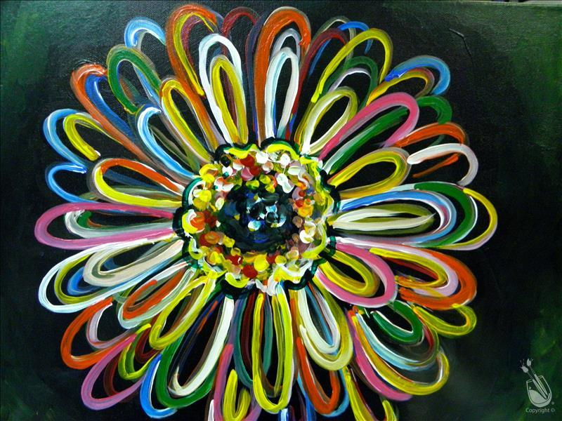 How to Paint BLACKLIGHT Neon Gerbera