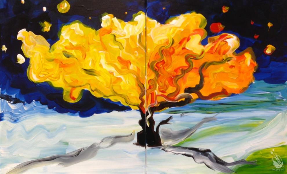 Van Gogh Tree - COUPLES CLASS (adults)