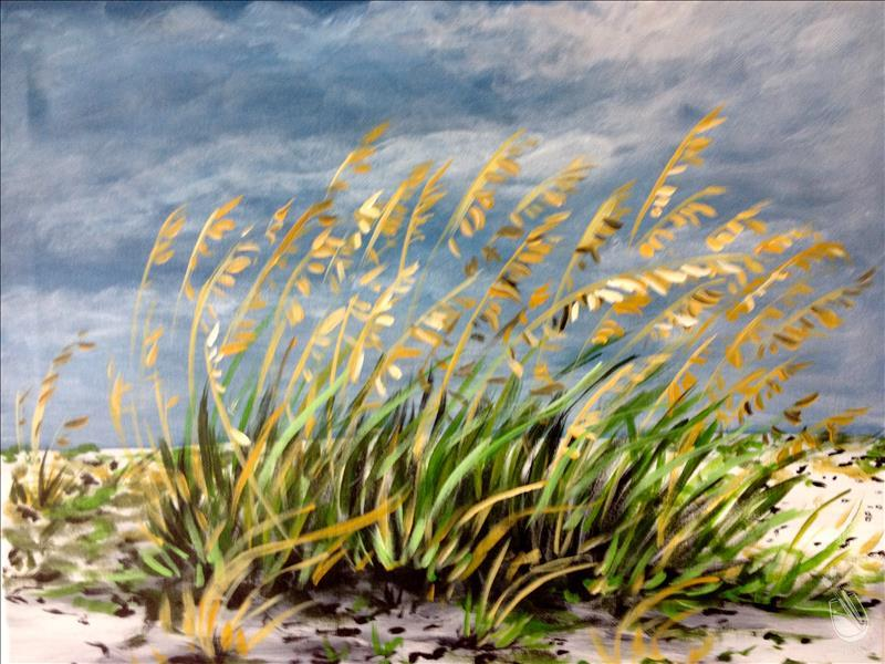 **Breezy Seaoats on the Beach**