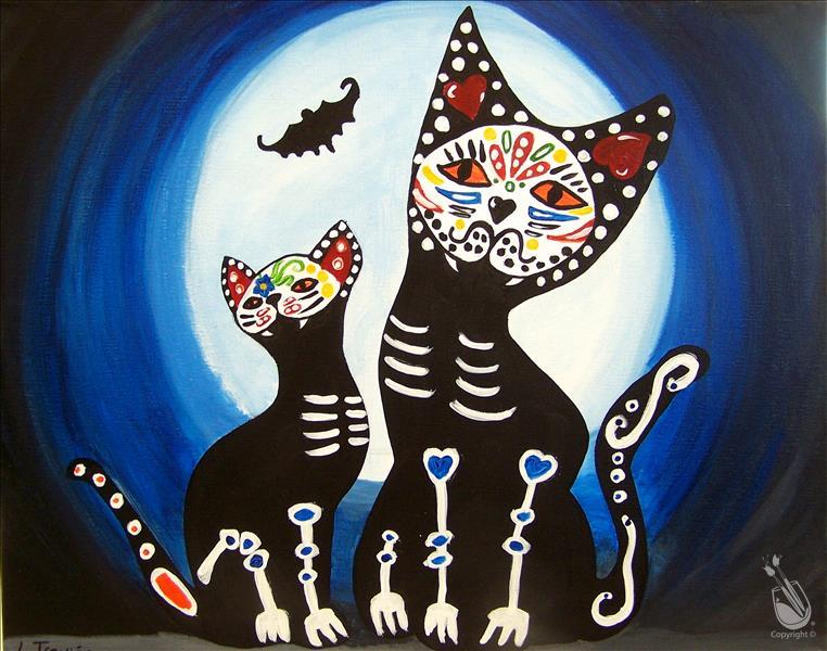 How to Paint National Cat Day- Black Cat Night Out