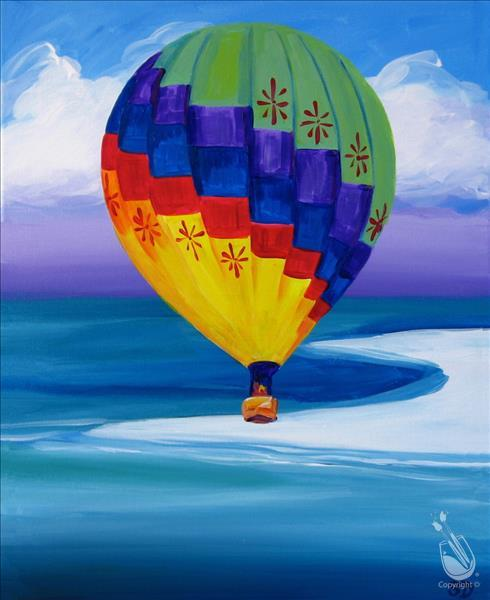 Balloon Over the Beach
