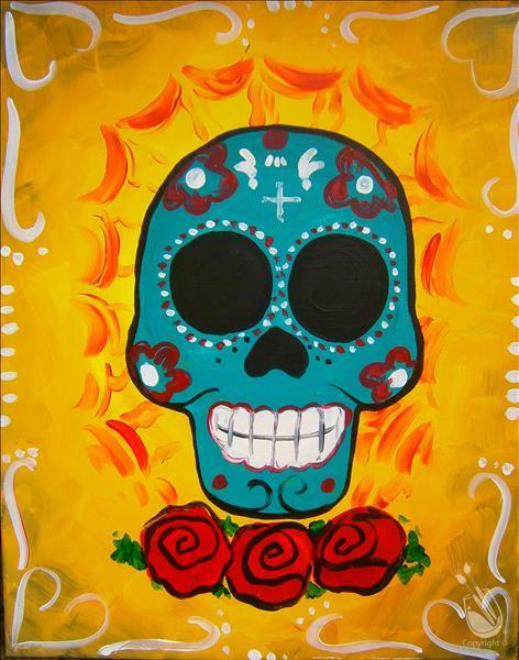 Day of the Dead Skull - VIRTUAL LIVE EVENT.
