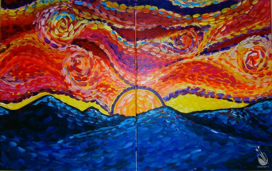 Van Gogh's Mountain Sunset - Set **LIMITED SEATING