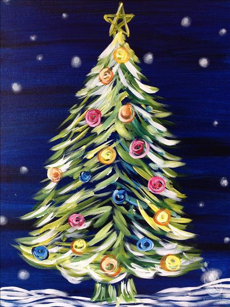How to Paint Neon Christmas Tree (Ages 5+)