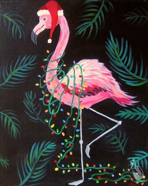 How to Paint AFTERNOON ART: Festive Flamingo