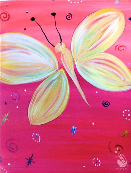 How to Paint DAY 5: Pick Your Own Colors! Yellow Butterfly