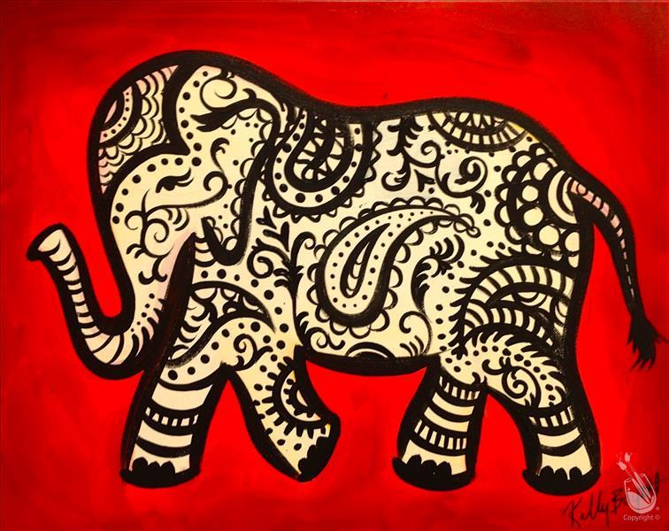 Paisley Elephant (Choose Your Colors)