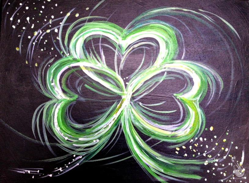 *Mimosa Sunday* Neon Irish Shamrock