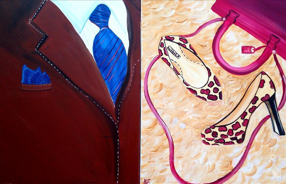 Suit and tie pumps and purse set saturday january 2 for Painting with a twist cedar hill tx