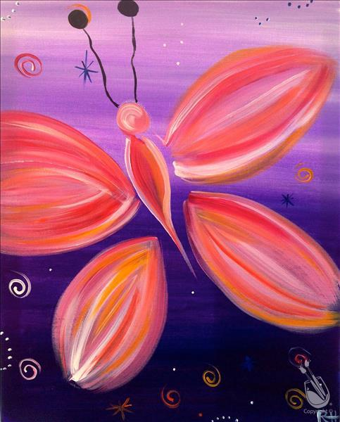 VIRTUAL OR IN STUDIO: Pink Butterfly