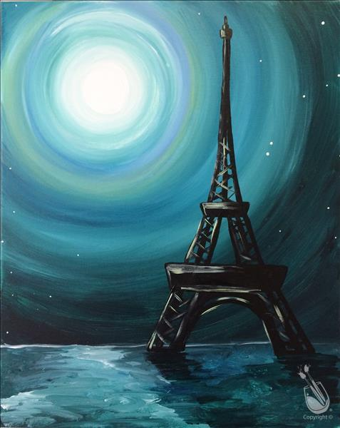 How to Paint Paris Moon