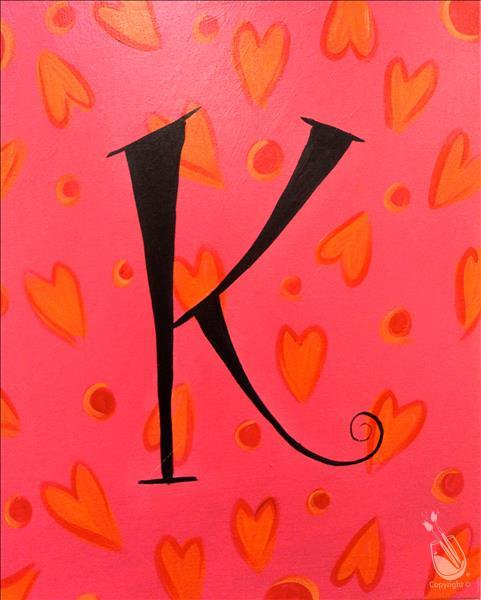 How to Paint KID'S CLASS! Heart Monogram