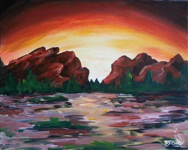 How to Paint Sunset at Garden of the God's- $3 House Drinks