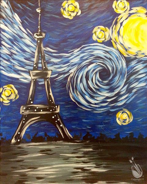 Starry Eiffel Tower (Teen Night)