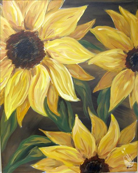 Sunflower on Brown