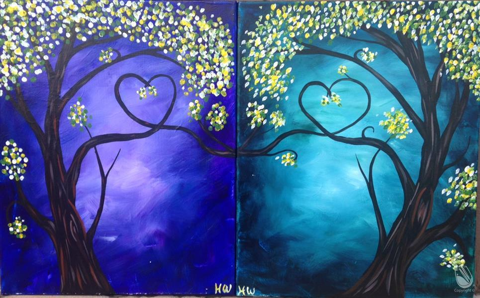 How to Paint Love Trees - Pick Left or Right!