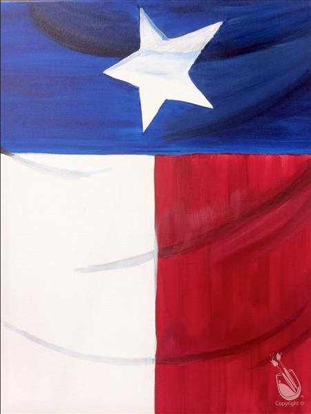 Open to public texas flag saturday december 3 2016 for Painting with a twist greenville tx