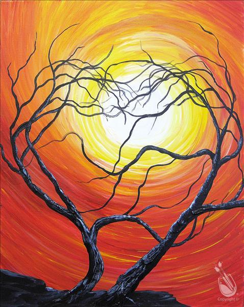 How to Paint COFFEE and CANVAS - Trees Entangled