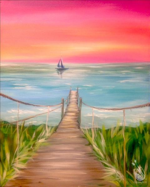 AFTERNOON ART: Boardwalk Sunset