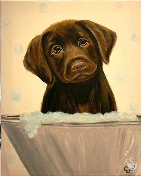 How to Paint Cocoa in the Tub