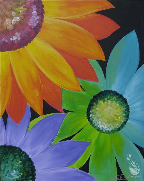 Vibrant Daisies - CHOOSE ANY COLORS!
