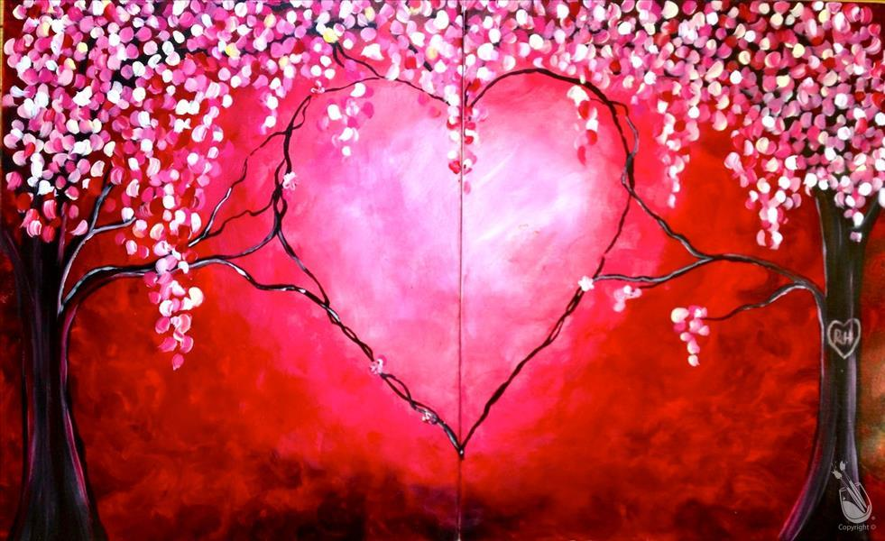 *VIRTUAL* Love Trees - Set or Paint One
