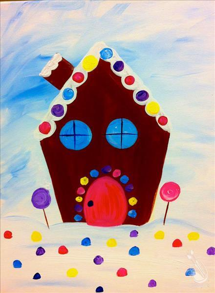 How to Paint Gumdrop Gingerbread House-FUN for ages 6+