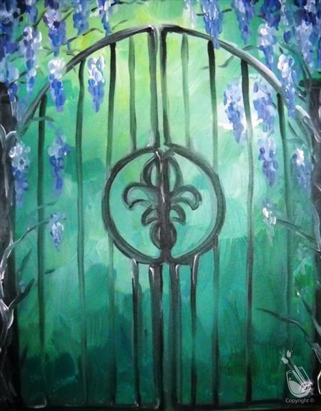 How to Paint Wisteria Gate
