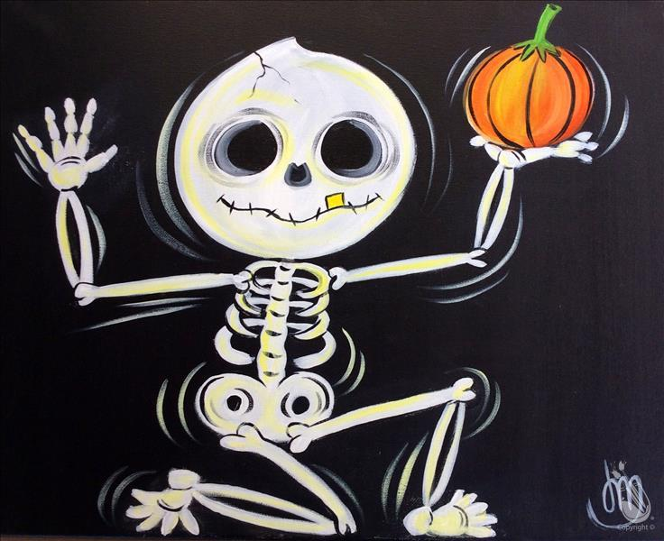 How to Paint Halloween Skeleton- GLOW IN THE DARK!