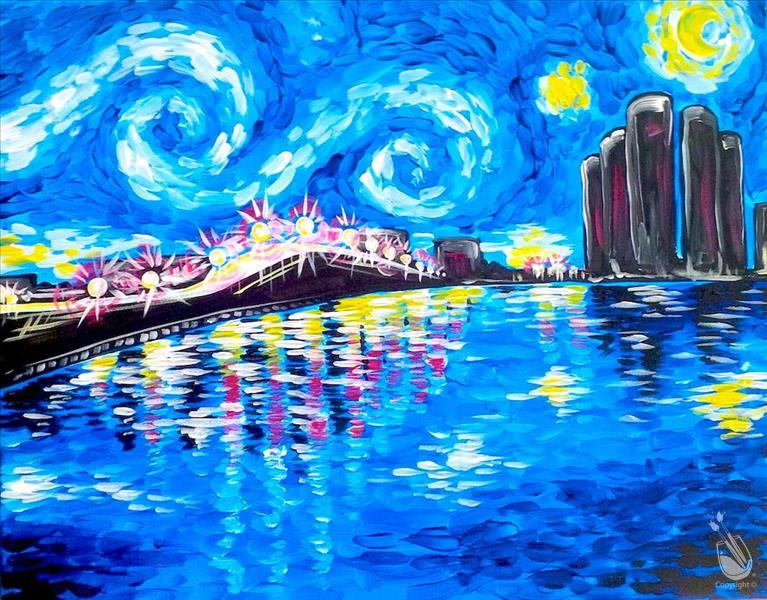 How to Paint Starry Night Over the Caloosahatchee