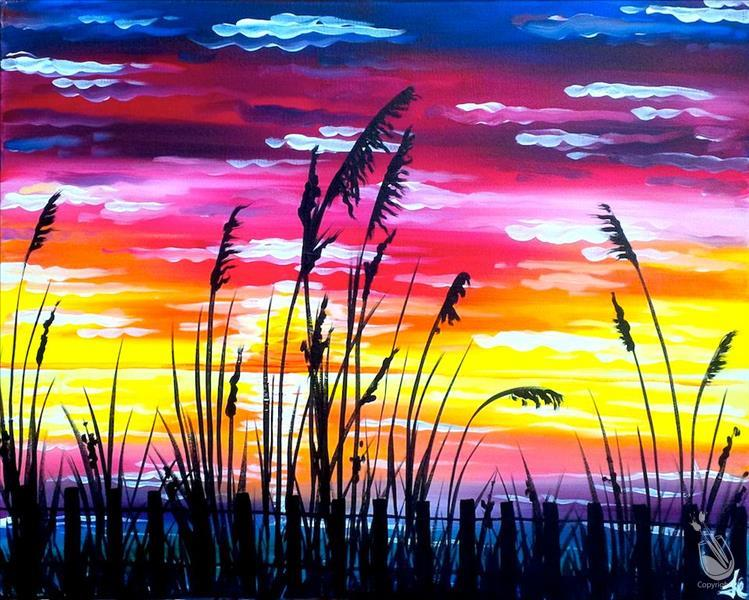 IN STUDIO|Sunset through the Reeds *NEW ART