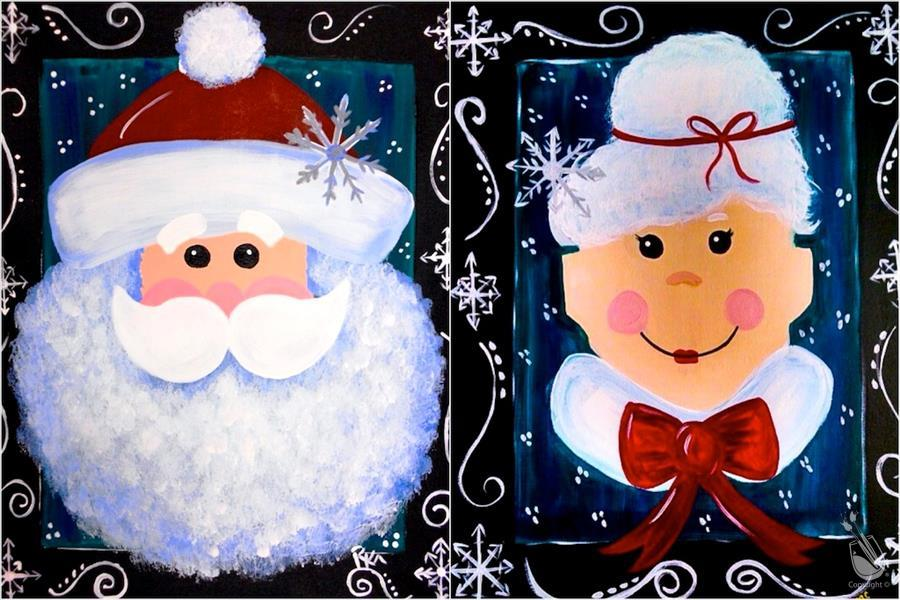 Snowy Mr. and Mrs. Claus - Set