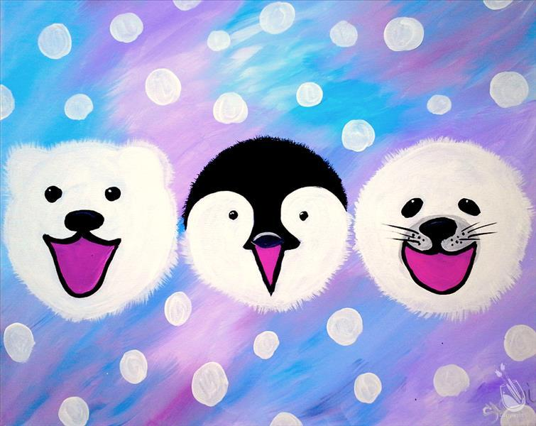 How to Paint Polar Pals-Family Fun!-Ages 8-108! No Alcohol