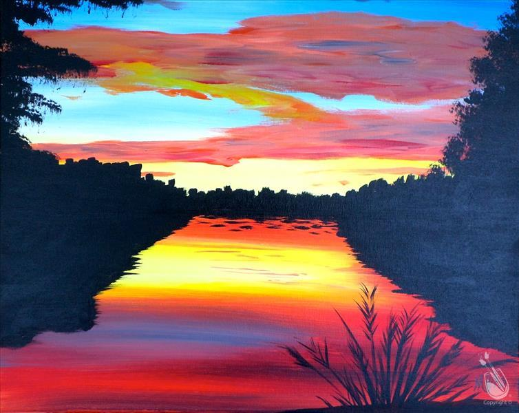 How to Paint Rainbow Creek Sunset *Public Event*