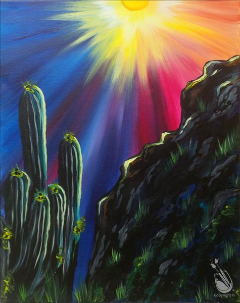 Saguaro Sunset - VIRTUAL LIVE EVENT.