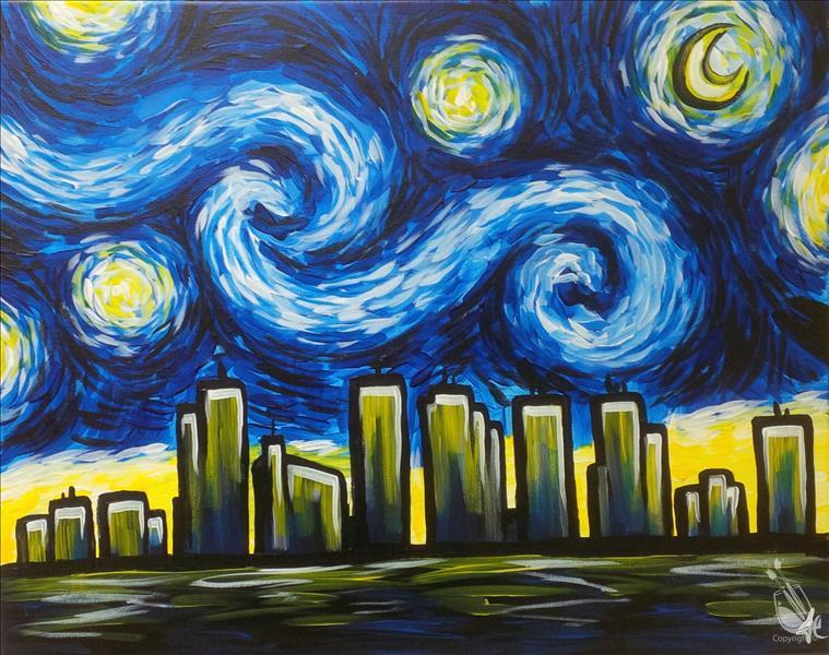 How to Paint Starry Night Over Phoenix