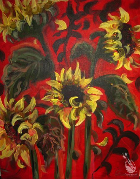 Dancing sunflowers saturday september 22 2012 for Painting with a twist lexington
