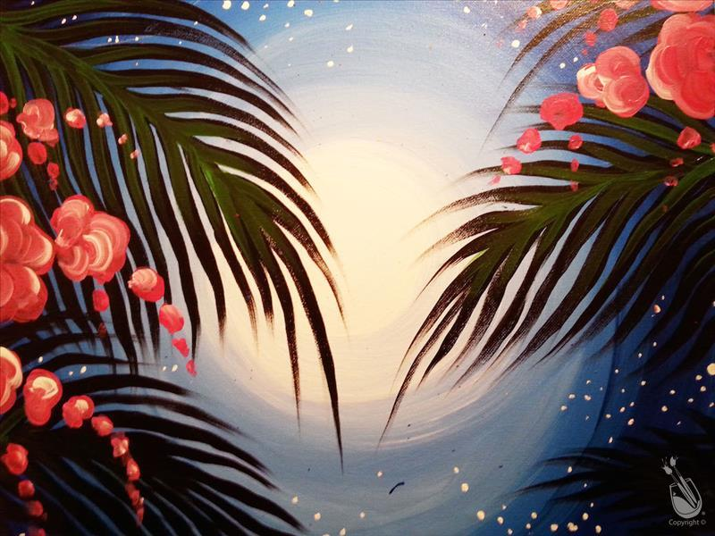 In Studio- Moonlit Palm Trees (21+)