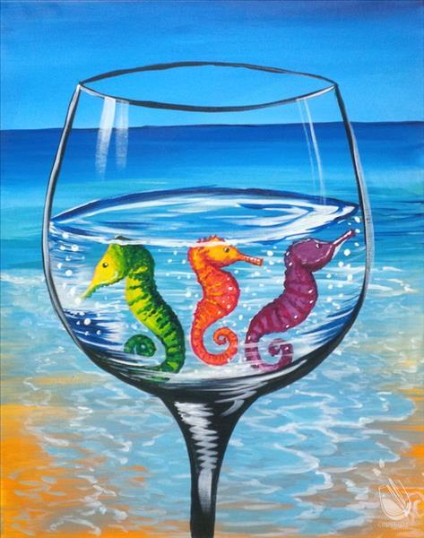 Colorful Seahorse Cocktail