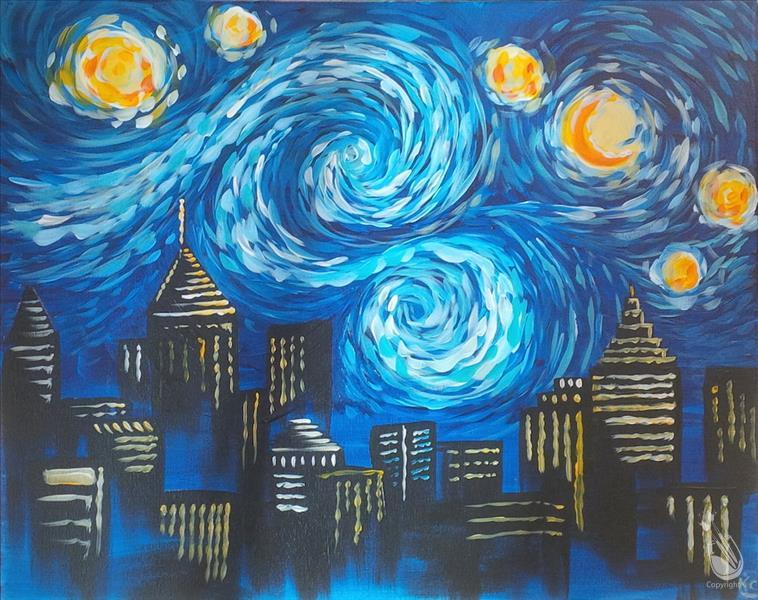 How to Paint Starry Night Over Atlanta