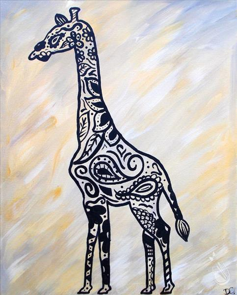 How to Paint Paisley Giraffe