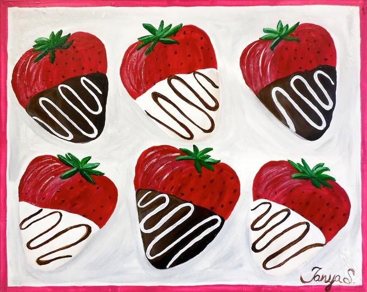 How to Paint Chocolate Covered Strawberries