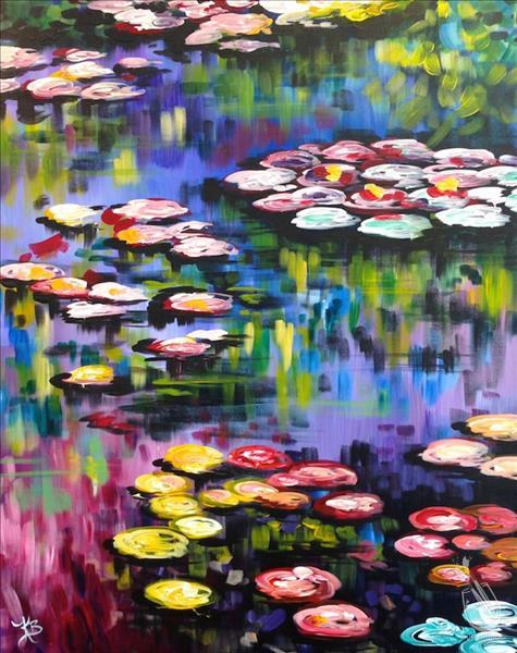 XL 24x36 Monet's Lilies~w/Optional Finger Painting